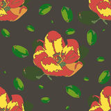 Seamless pattern with apple flower Royalty Free Stock Photos