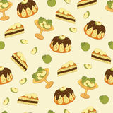 Seamless pattern with apple pie Royalty Free Stock Photo