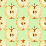 Seamless pattern with apple slice 4. Seamless pattern with apple slice. Food background for design Stock Image