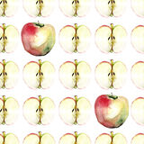 Seamless pattern with apple Royalty Free Stock Photography