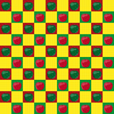Seamless pattern with apples Stock Photo