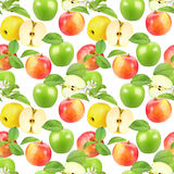 Seamless pattern of apples Stock Photo