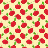 Seamless pattern apples. With curls on the side Stock Photography