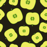 Seamless pattern with apples. On a dark background Royalty Free Stock Photo