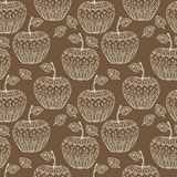 Seamless pattern with apples Stock Image