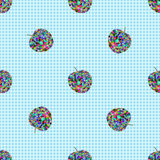 Seamless pattern a apples. Seamless pattern, a apples fills template space Royalty Free Stock Photos