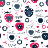 Seamless pattern with apples Stock Images