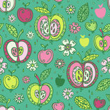 Seamless pattern with apples fruits Stock Photography