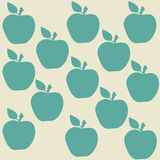 Seamless pattern with apples. On the gray background Stock Photography
