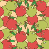 Seamless pattern with apples Royalty Free Stock Images