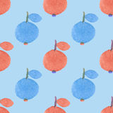 Seamless pattern with apples. Hand-drawn background. Vector illustration. Stock Photography