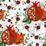 Seamless pattern with apples and honey. Hand drawing vector illustration Royalty Free Stock Photos