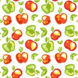 Seamless pattern of apples royalty free stock photos