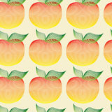 Seamless pattern with apples motif can be used in textiles, for book design, website background Stock Photography