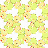 Seamless pattern with apples and pears in the section. vector il Royalty Free Stock Images