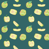 A seamless pattern with apples. Stock Photography