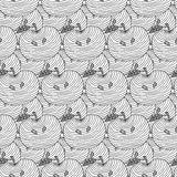 Seamless pattern of apples. Vector  background Royalty Free Stock Image