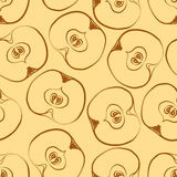 Seamless pattern with apples. Seamless vector pattern with colorful apples. Tempate for design fabric, backgrounds, wrapping paper, package, covers. For cards Stock Photo