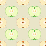 Seamless pattern with apples. Seamless vector pattern with colorful apples. Tempate for design fabric, backgrounds, wrapping paper, package, covers. For cards Royalty Free Stock Photo