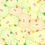 Seamless pattern with apples. Seamless vector pattern with colorful apples. Tempate for design fabric, backgrounds, wrapping paper, package, covers. For cards Royalty Free Stock Images