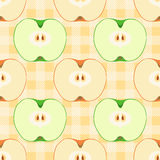 Seamless pattern with apples. Seamless vector pattern with colorful apples. Tempate for design fabric, backgrounds, wrapping paper, package, covers. For cards Royalty Free Stock Photography