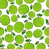 Seamless pattern of apples, vector illustration. Stock Photo