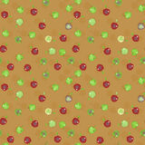 Seamless pattern of apples,. Vector illustration Stock Photography