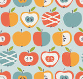 Seamless pattern with apples. Vector illustration Stock Image
