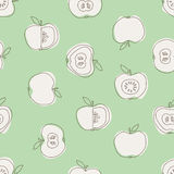 Seamless pattern with apples. Vector illustration Stock Photography