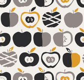 Seamless pattern with apples. Vector illustration Royalty Free Stock Image