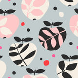 Seamless pattern with apples royalty free illustration