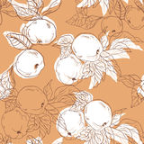 Seamless pattern with apples. Vector illustration. Seamless pattern with white apples. Vector illustration Stock Illustration