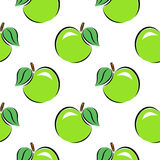 Seamless pattern. Apples on a white background. Apples on a white background. Seamless pattern stock illustration