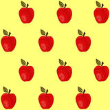 Seamless pattern with apples Stock Photos