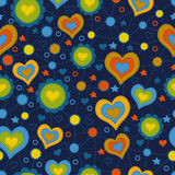 Seamless pattern with the application of hearts Royalty Free Stock Photography