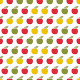 Seamless pattern, applique apples, guilt, scrapbook. Children white seamless pattern, imitation patchwork Royalty Free Stock Images