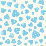 Seamless pattern with applique hearts Stock Images