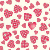 Seamless pattern with applique hearts Royalty Free Stock Image