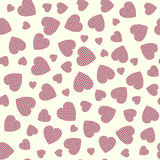 Seamless pattern with applique hearts Stock Photos