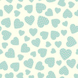 Seamless pattern with applique hearts Stock Photo