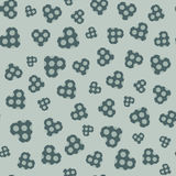 Seamless pattern with applique hearts Royalty Free Stock Photography