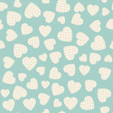 Seamless pattern with applique hearts Stock Photography