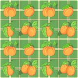Seamless pattern with apricots Stock Photo