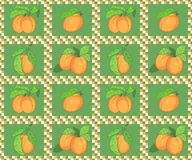 Seamless pattern with apricots Stock Image