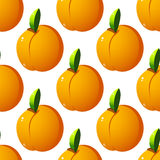 Seamless pattern  with apricots Royalty Free Stock Photography