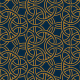 Seamless pattern arabic stained ring Royalty Free Stock Photography