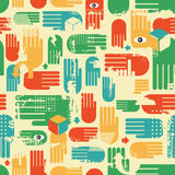 Seamless pattern with arms. Royalty Free Stock Photos