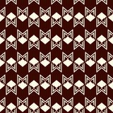Seamless pattern with arrow fletching. Repeated chevrons wallpaper. Tribal and ethnic motif. Native americans ornament. Al abstract background. Boho chic digital Stock Photos