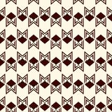 Seamless pattern with arrow fletching. Repeated chevrons wallpaper. Tribal and ethnic motif. Native americans ornament. Al abstract background. Boho chic digital Royalty Free Stock Photos