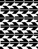 Seamless pattern with arrows, black and white infinite geometric Stock Image